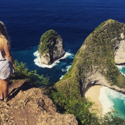 Sadie at Kelingking Lookout, Nusa Penida