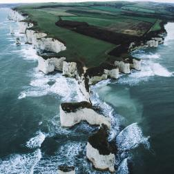 Studland Bay, Old Harry Rocks (photo courtesy of Ryan Sheppeck: https://photogrist.com/drone-photography-ryan-sheppeck/)