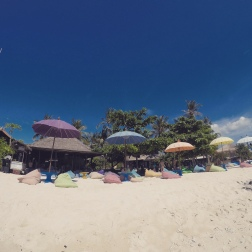 View of Blue Corner Dive Resort from the beach
