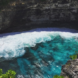 Waves Crashing on to Broken Beach, Nusa Penida