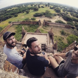 Boys at Sunrise | Secret Temple, Bagan