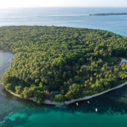 Lola Island from above, Solomon Islands