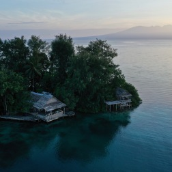 Oravae Cottage Backdrop, Solomon Islands