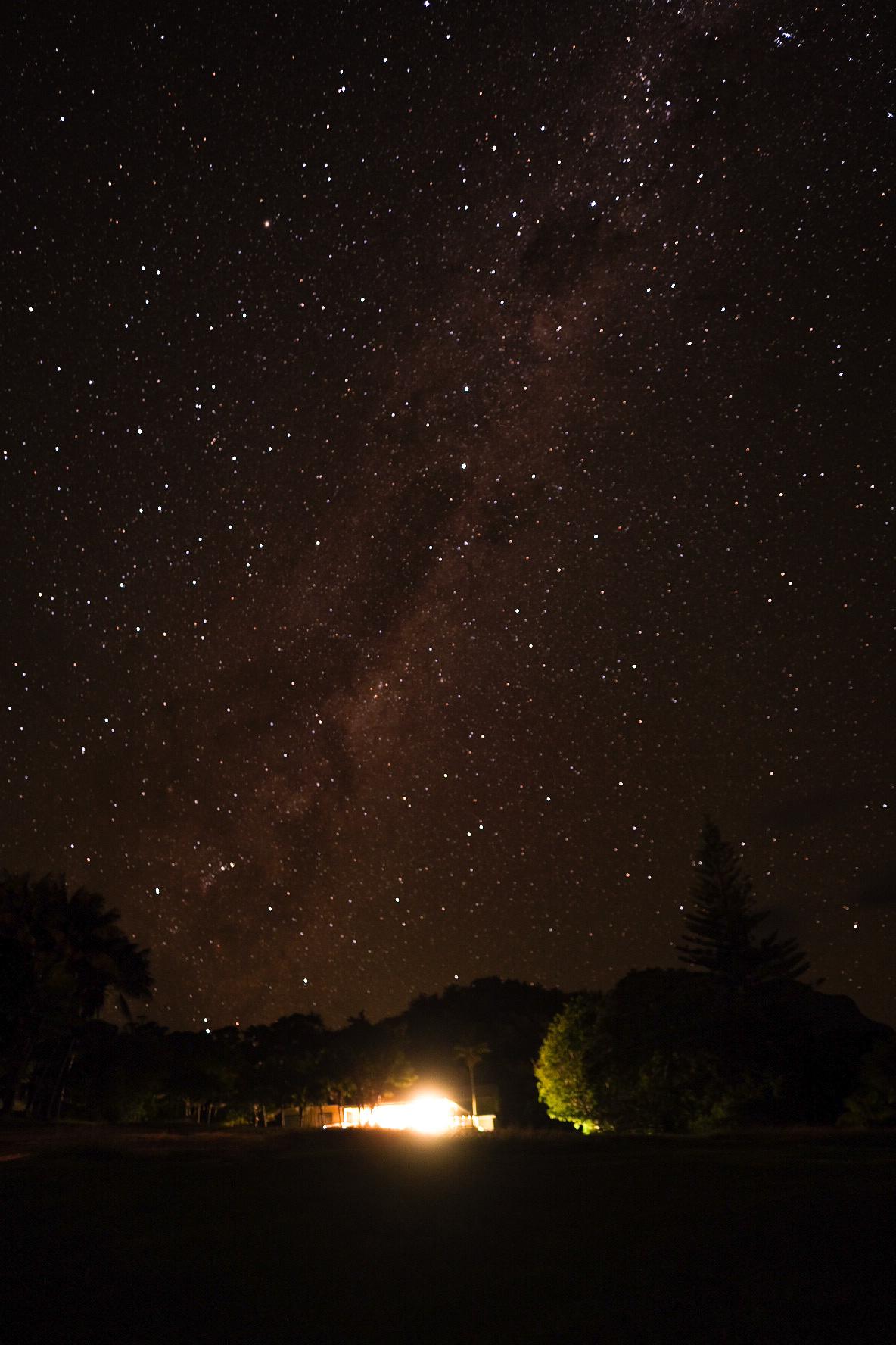Milky Way stars above home