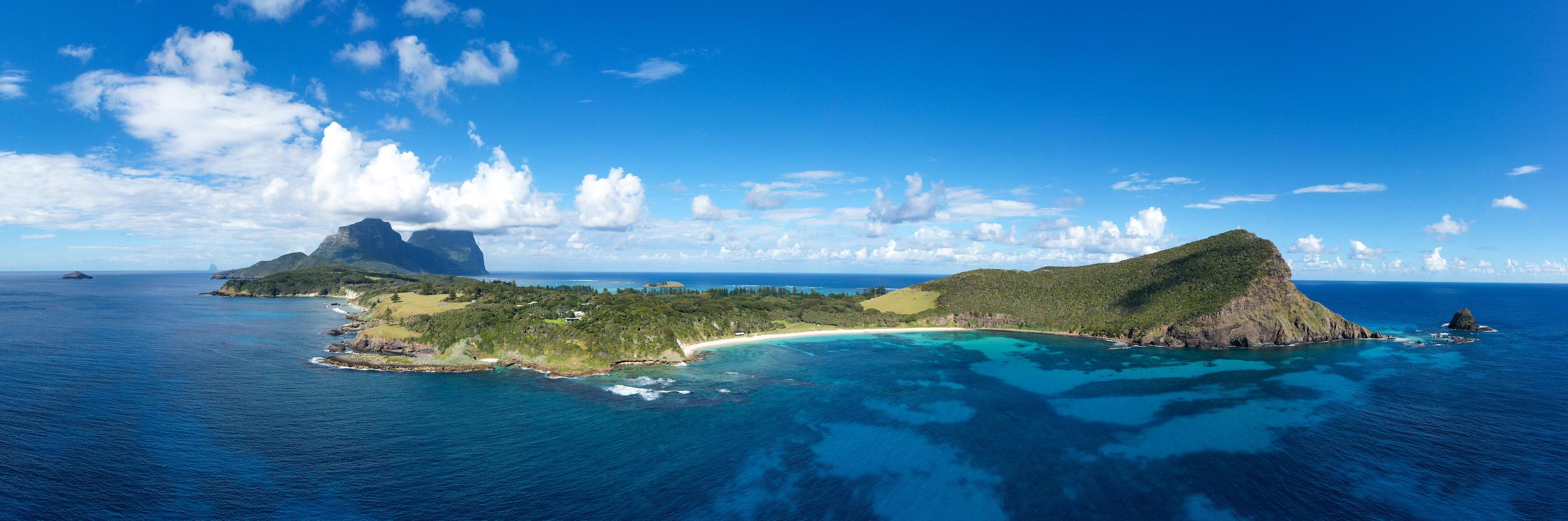 Ned's Beach drone pano photo